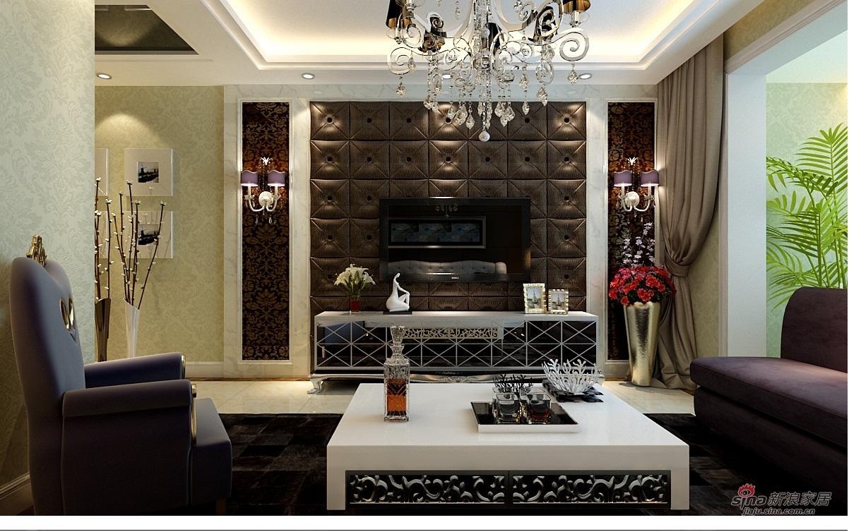 欧式 三居 客厅图片来自用户2746948411在137平万锦江城装修效果图三口之家的美好生活47的分享