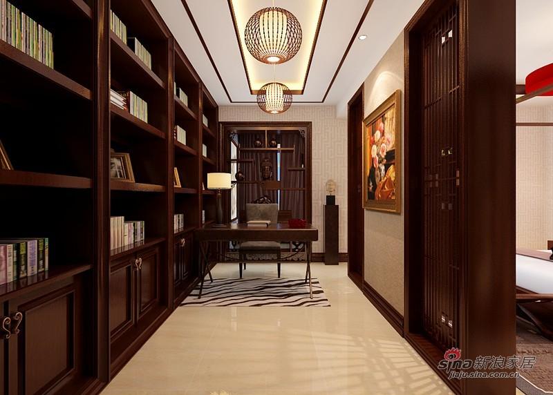 中式 四居 书房图片来自用户1907661335在曼妙260平中式旭日东升吉祥家72的分享