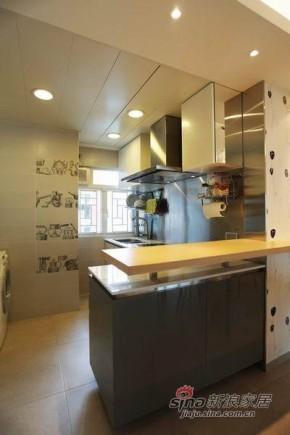 港式 三居 厨房 80后图片来自佰辰生活装饰在屌丝男98平港式风格三居室76的分享