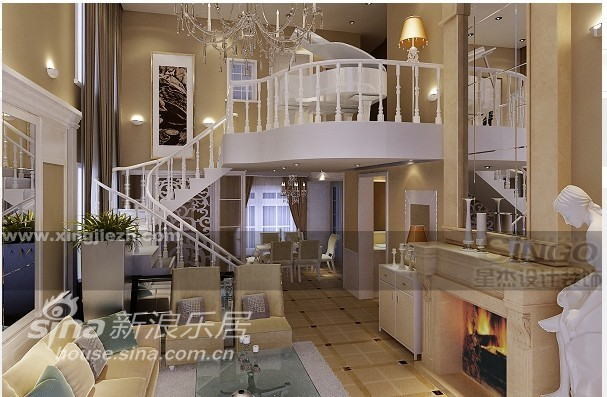 欧式 别墅 客厅图片来自用户2746948411在英式田园52的分享