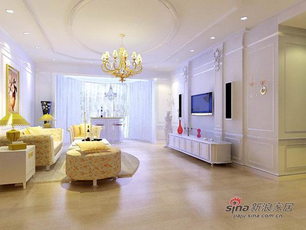 欧式 三居 客厅图片来自用户2746889121在9.6w全面打造艺术十足的160平典雅欧式家居98的分享