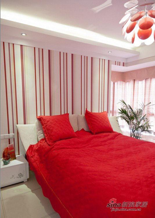 现代 二居 卧室图片来自装修微日记在【高清】小夫妻晒77平现代温馨浪漫婚房40的分享