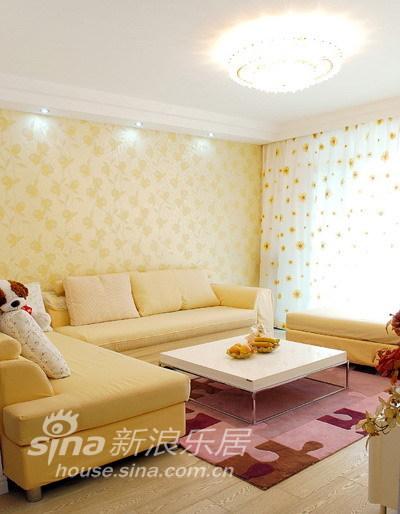 简约 复式 客厅图片来自用户2737759857在实景:160平简约田园混搭复式31的分享