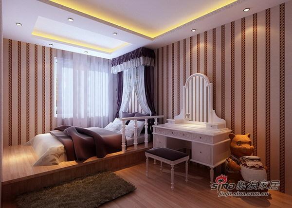 欧式 三居 卧室图片来自用户2757317061在万科风情万种爱家72的分享