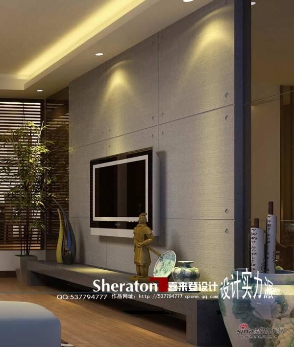 客厅电视电景墙