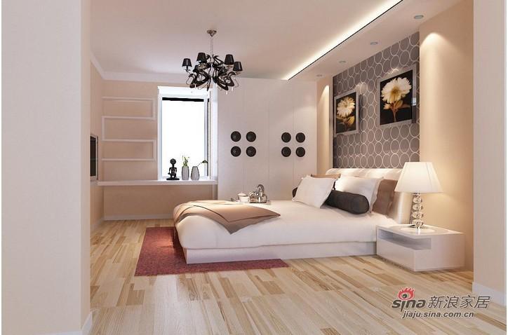 """简约 三居 卧室图片来自用户2558728947在127平米""""现代简约""""家装案例_实创装饰85的分享"""