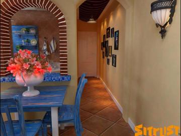 5.8万打造87平米两室两厅蔚蓝色地中海风格84