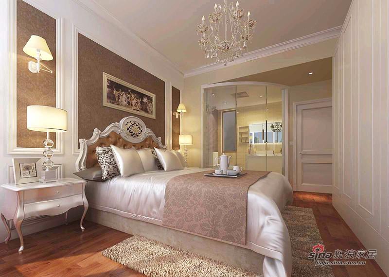 欧式 复式 卧室图片来自用户2772856065在128平欧式高贵典雅3居室爱家44的分享