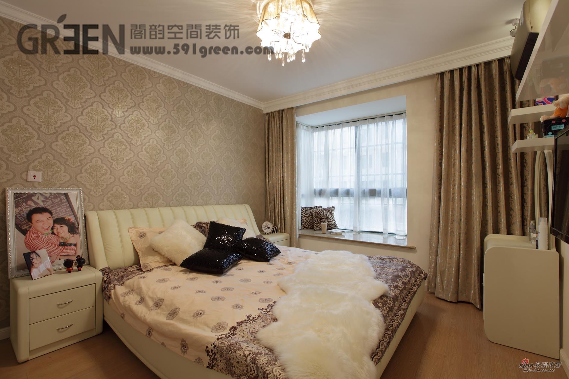 简约 二居 卧室图片来自阁韵空间装饰在【高清】神奇!82平柔风异彩美居55的分享