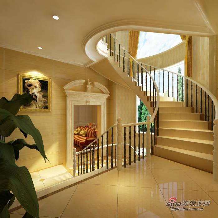 欧式 别墅 楼梯图片来自用户2746889121在35万搞定600平米欧式别墅 64的分享