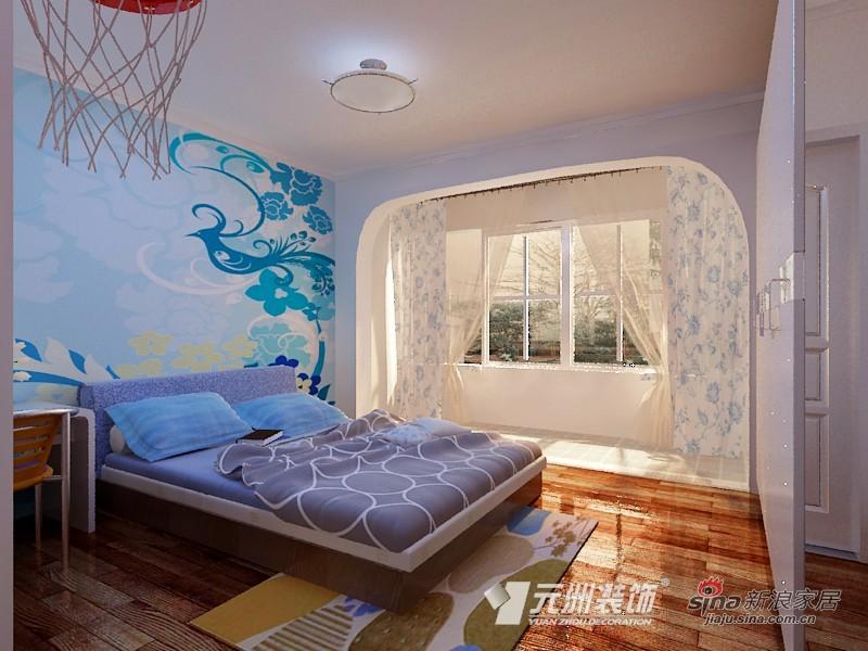 混搭 别墅 卧室图片来自用户1907689327在【多图】200平米小别墅混搭美家91的分享