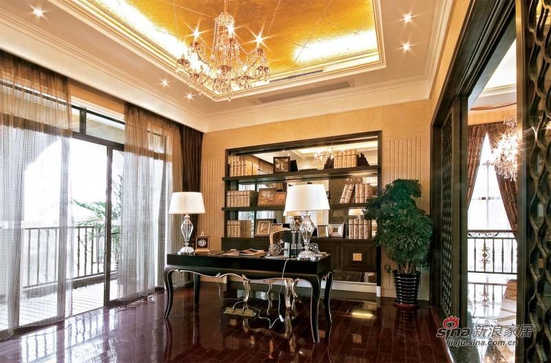 新古典 别墅 书房图片来自用户1907664341在【多图】优雅欧式古典装修设计58的分享