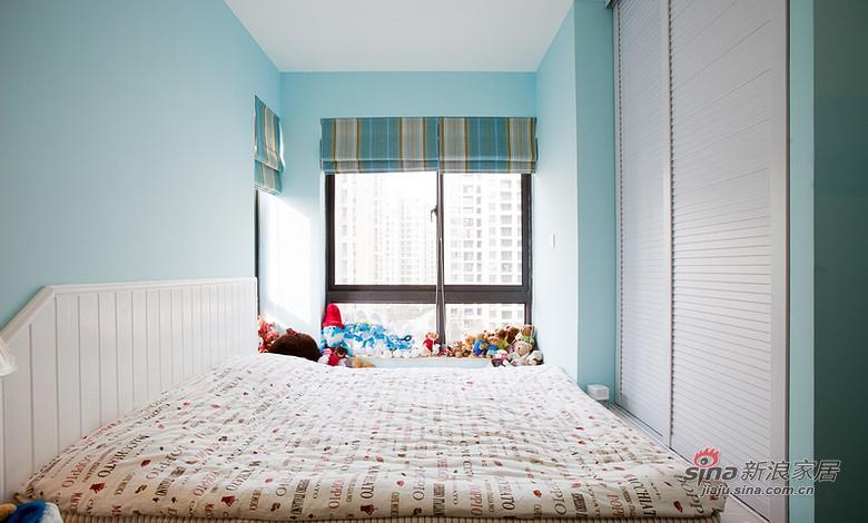美式 三居 卧室图片来自用户1907686233在【高清】110平清爽美式混搭3居室30的分享