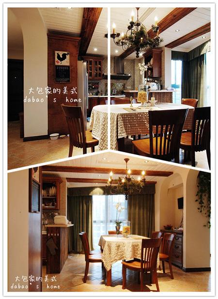 美式 跃层 餐厅图片来自用户1907685403在网友晒260㎡美式乡村风情家39的分享