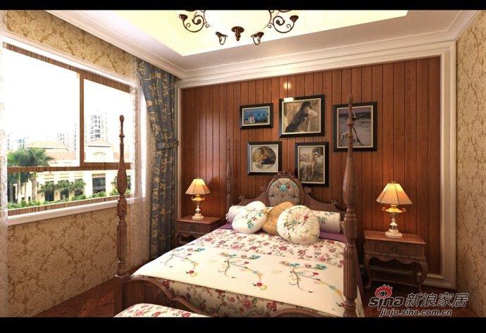 美式 别墅 卧室图片来自用户1907685403在240平美式别墅尽显低调奢华之美80的分享