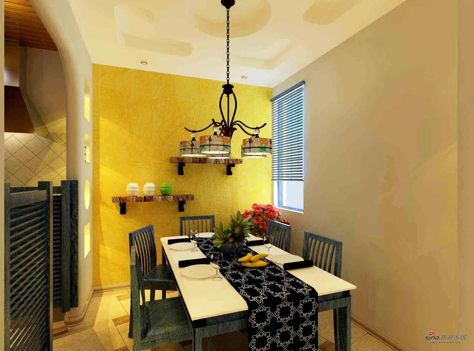 地中海 二居 餐厅图片来自用户2757320995在沐浴阳光的地中海风格35的分享