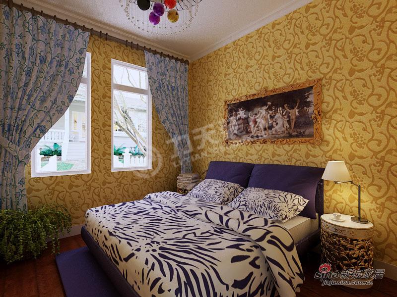 欧式 二居 卧室图片来自阳光力天装饰在旭辉澜郡-3室2厅2卫1厨-欧式风格81的分享