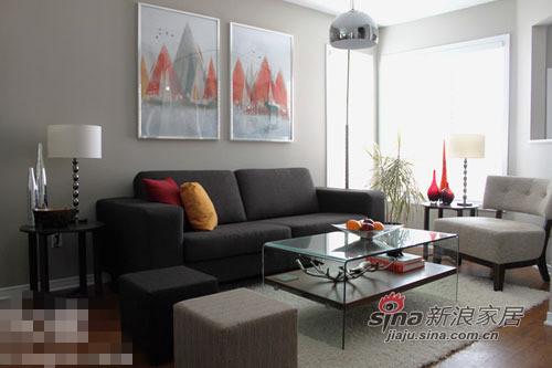 简约 二居 客厅图片来自用户2738820801在小夫妻68平小公寓装出别墅范儿28的分享