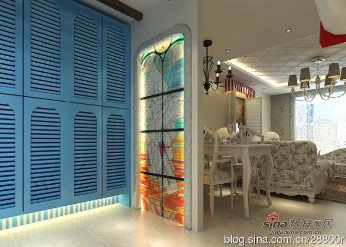 地中海 三居 玄关图片来自用户2757320995在160平浪漫地中海 蓝与白的纯净空间94的分享