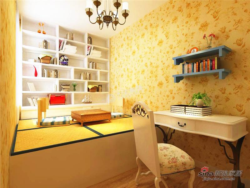 地中海 二居 书房图片来自用户2756243717在招商依云郡82.6平米-2室2厅-地中海风情62的分享