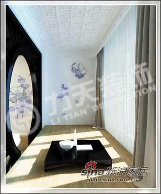 中式 三居 阳台图片来自阳光力天装饰在138平儒雅诗意中式风情14的分享