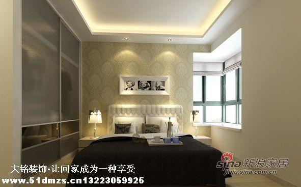 现代简约风格家庭装修设计-卧室设计效果图