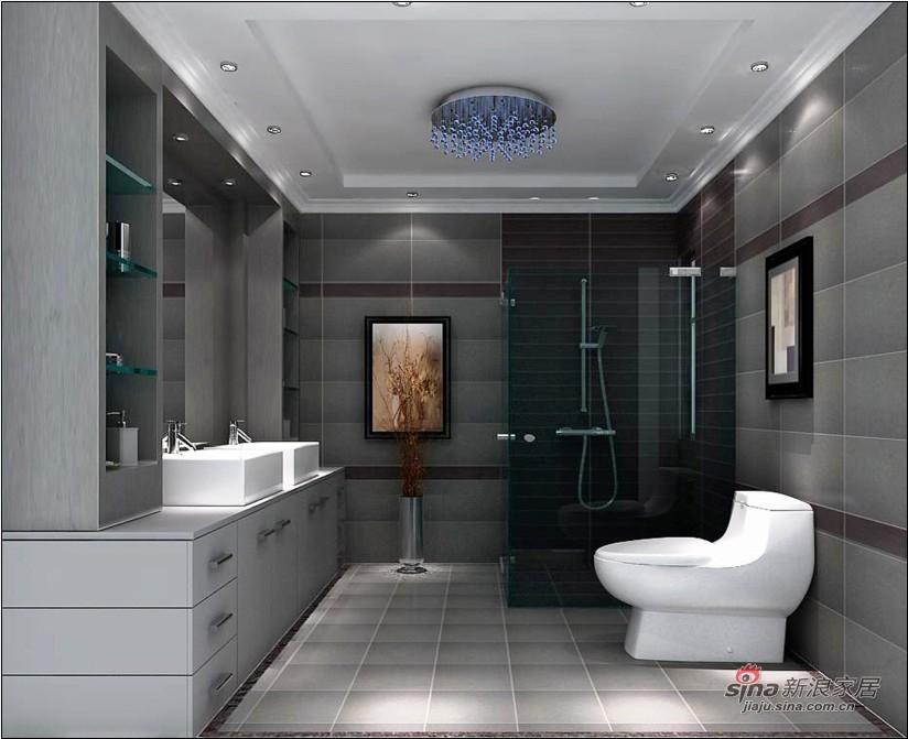 现代 三居 卫生间图片来自用户2765170907在11万打造165平现代风格家居31的分享
