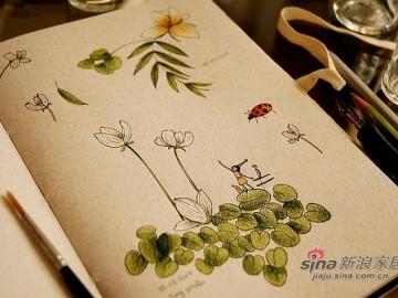 清新的创意植物插画57