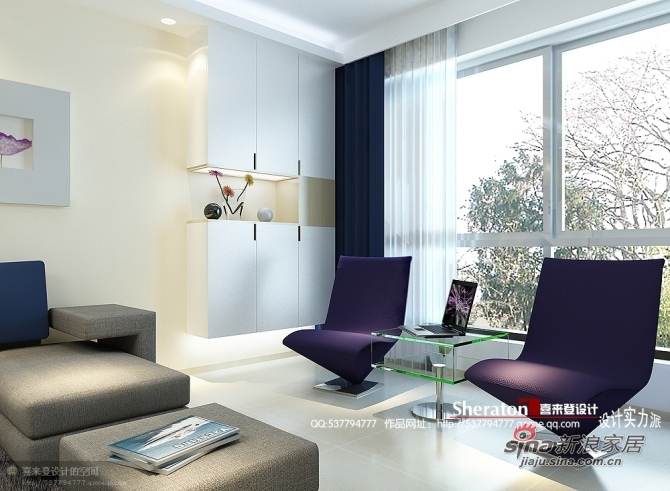 简约 二居 客厅图片来自用户2557979841在8万装90平简而求雅2室2厅46的分享