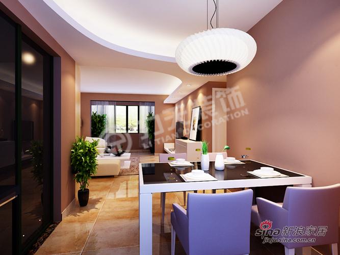 简约 二居 餐厅图片来自阳光力天装饰在福晟钱隆城114平米现代简约55的分享