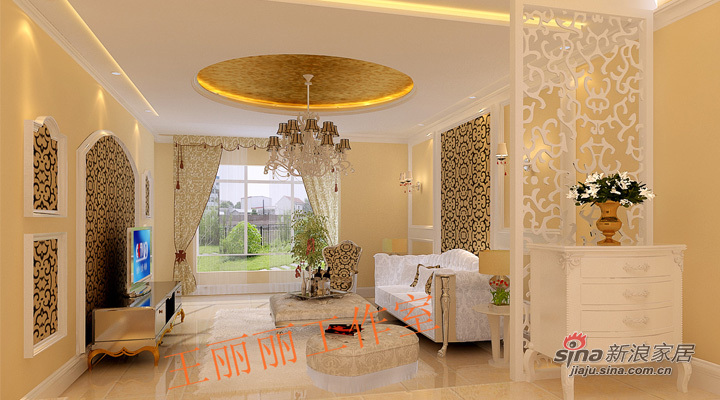 欧式 二居 客厅图片来自用户2746948411在13万打造城市亮点198平豪华简欧3居室29的分享