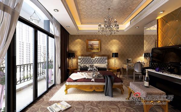 欧式 四居 卧室图片来自用户2772873991在180平奢华欧式大宅68的分享