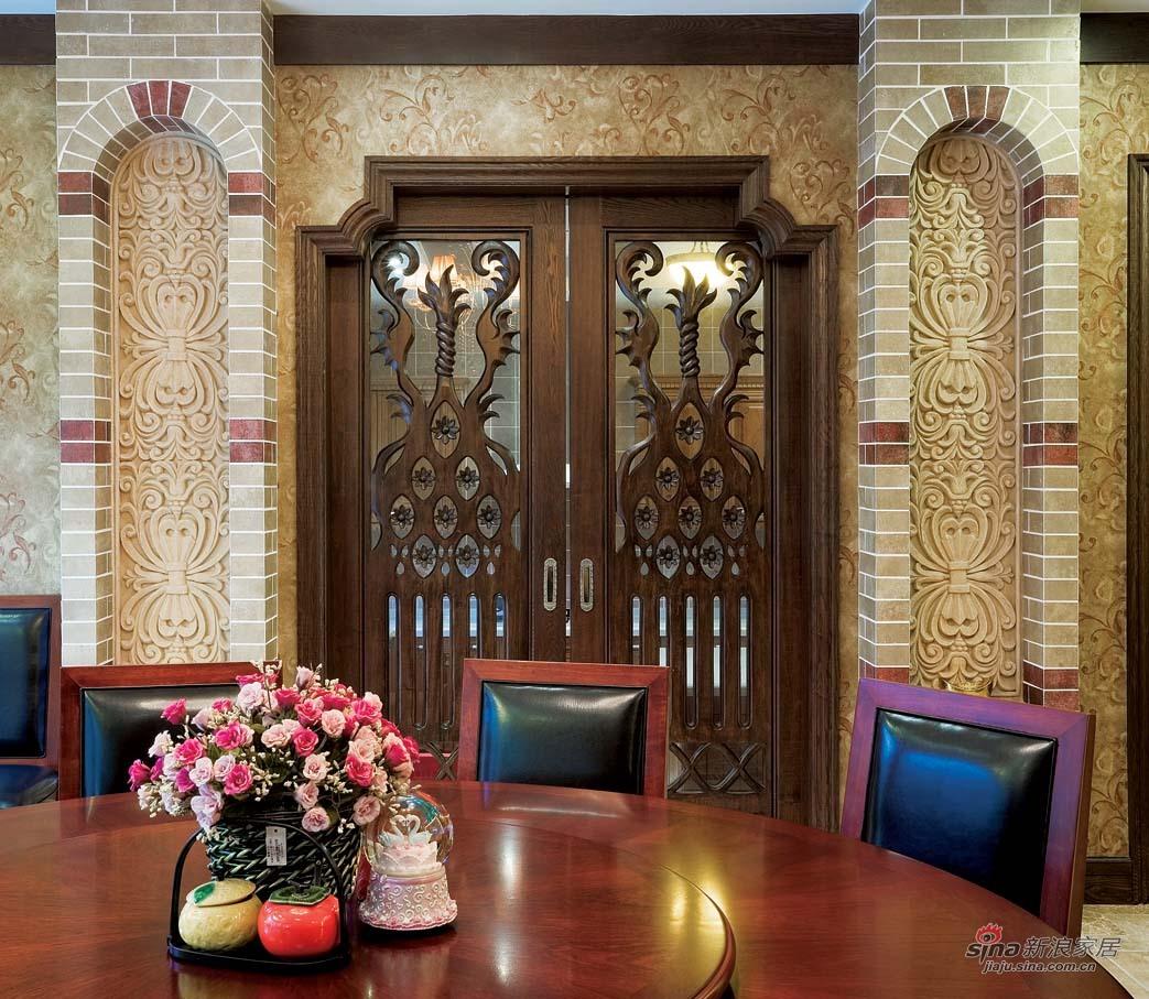 美式 别墅 餐厅图片来自用户1907685403在【高清】欧式风格奢华设计299平米大豪宅64的分享