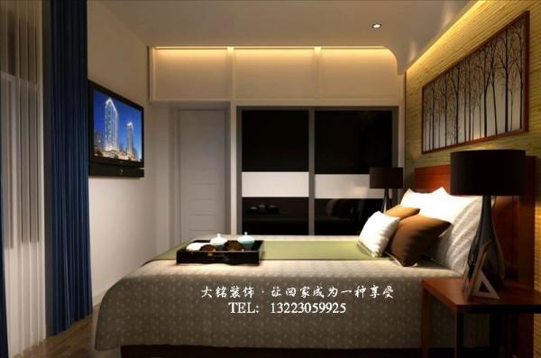 简约风格家庭装修效果图-卧室设计效果图
