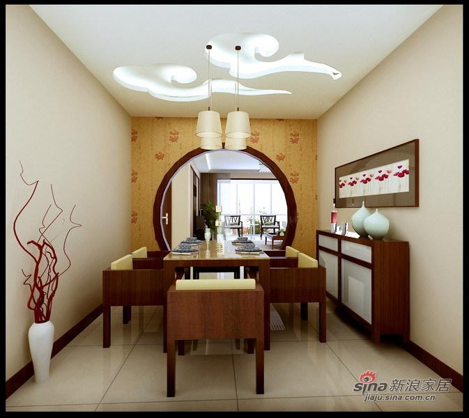 中式 四居 餐厅图片来自用户1907659705在师职180㎡新中式风格4居室33的分享