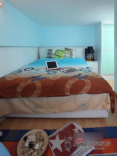 地中海 跃层 卧室图片来自用户2756243717在我的专辑367367的分享