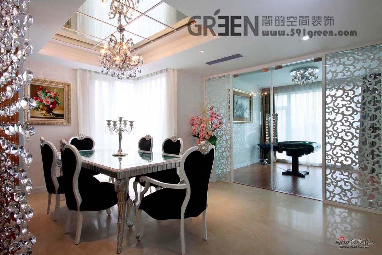 欧式 三居 餐厅图片来自用户2746889121在新上海印象——银魅水晶80的分享
