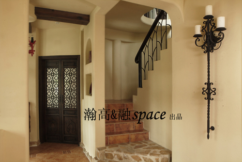 地中海 别墅 楼梯图片来自用户2756243717在贝儿的城堡22的分享