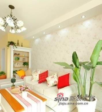 田园 公寓 客厅图片来自用户2737946093在90平米房屋田园风格装修60的分享