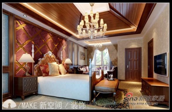 美式 三居 卧室图片来自用户1907685403在110平美式优雅的暖意空间3居32的分享