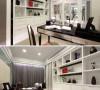 與客廳之間貼心設計捲簾,保持書房空間的獨
