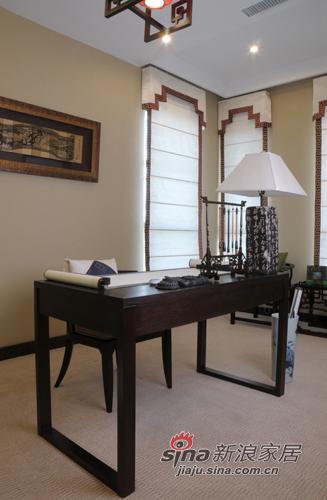 中式 别墅 书房图片来自用户1907659705在【高清】226平新中式风格大气家90的分享