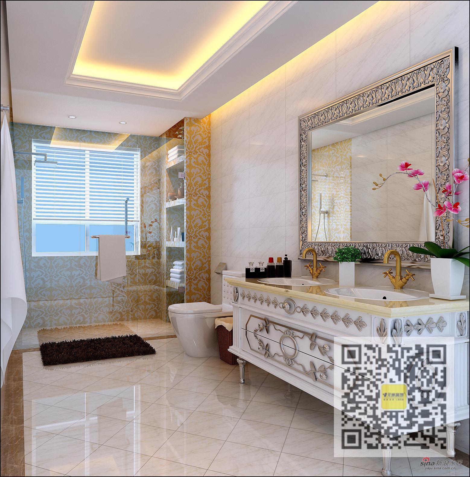 欧式 别墅 卫生间图片来自用户2746869241在欧式风格别墅设计76的分享