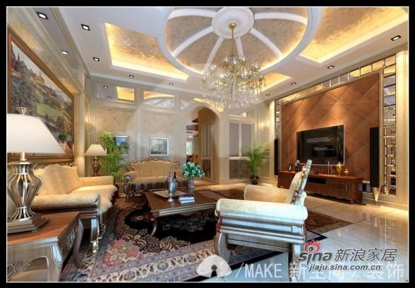 美式 三居 客厅图片来自用户1907685403在110平美式优雅的暖意空间3居32的分享