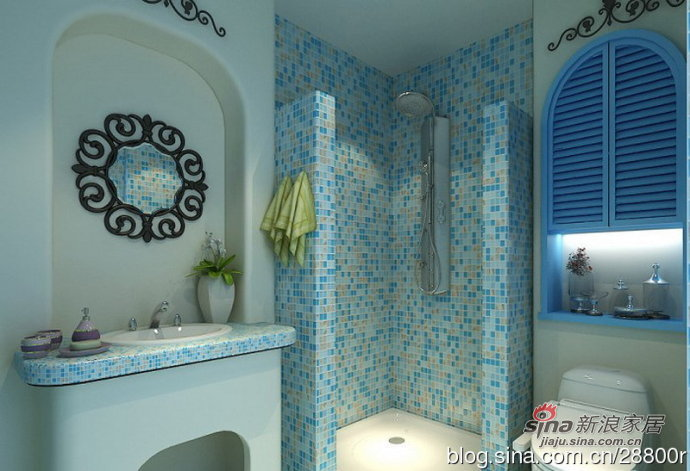地中海 三居 卫生间图片来自用户2757320995在160平浪漫地中海 蓝与白的纯净空间94的分享