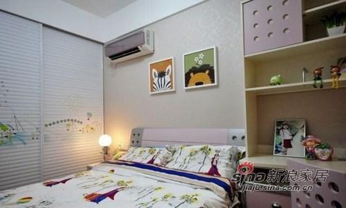 简约 三居 卧室图片来自用户2738845145在小夫妻超萌132平三室两厅75的分享