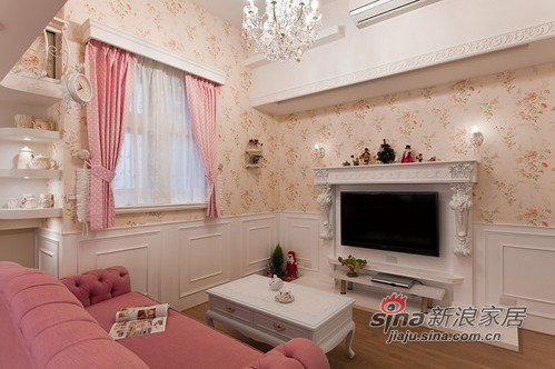 田园 二居 客厅图片来自用户2557006183在小资女2居公主房6万搞定80的分享