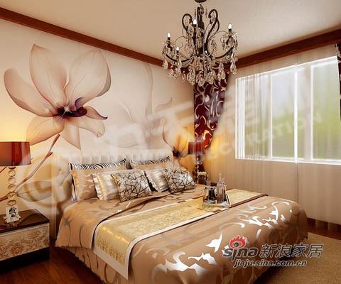 中式 三居 卧室图片来自阳光力天装饰在135平米中式古典三居22的分享