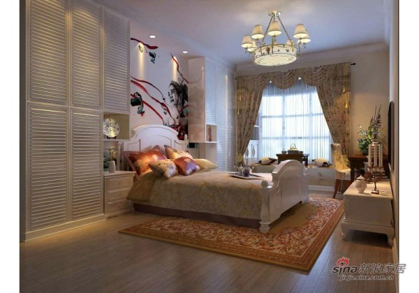 卧室--田园--三居