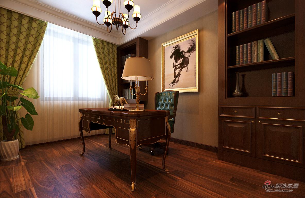 欧式 四居 书房图片来自用户2746869241在欧式风格漂亮四居室47的分享